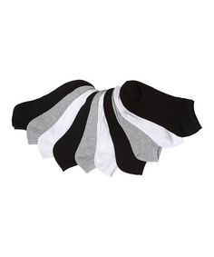Loving this Black & White Low Socks Set on #zulily! #zulilyfinds