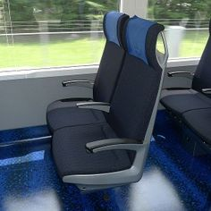 An option to get to Tokyo from Narita Airport is the Keisei Skyliner express train (interior).