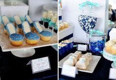 Something blue- wedding shower theme idea. 100 Beautiful Bridal Shower Themes + Ideas via Brit + Co.