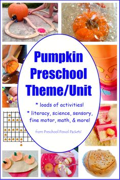 Pumpkin Preschool Activities!  Perfect for a pumpkin theme or pumpkin unit!  Science, literacy, sensory, and more!!