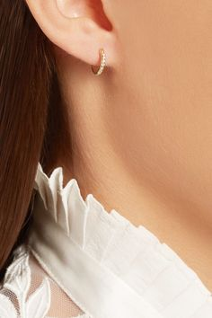 COM is a certified member of the Responsible Jewellery Council Diamond Hoop Earrings, Butterfly Earrings, Ring Earrings, Ear Piercings, Bling, Jewels, Simple Style, Gold, Jewellery