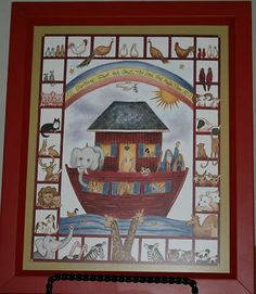 Linda Spivey Noah's Ark Primitive Folk Art Print