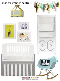 Modern Gender Neutral Nursery Design Board - Project Nursery