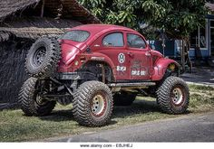 Volkswagen Beetle monster truck - Stock Image