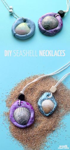 Best DIY Ideas for Teens To Make This Summer - Fun Seashell Necklace - Fun and Easy Crafts, Room Decor, Toys and Craft Projects to Make And Sell - Cool Gifts for Friends, Awesome Things To Do When You Are Bored - Teenagers - Boys and Girls Love Making These Creative Projects With Step by Step Tutorials and Instructions http://diyprojectsforteens.com/best-ideas-teens-summer