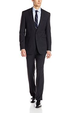 Bruno Piatelli Mens 2 Button Stripe Suit