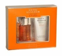 Beckham Sport Edt Gift Set The New Fragrance from David Beckham, the Sport Gift Set encapsulates the modern style, and will captivate the fairer sex. It has the citris top notes of manarin and grapefruit with hints of bergamot, this blends with the spicy fragrant heart of pimento, star anise and cardamom. Add the base notes of patchouli and classic white amber and you have a scent that epitomises the skill, ambition and Style of David.