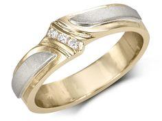 3 channel-set diamondsBypass design with white gold satin finished shouldersTotal diamond weight: Width: mmGold: 10 karat Diamond Wedding Bands, Wedding Rings, Black Diamond, Channel, White Gold, Satin, Engagement Rings, Modern, Jewelry