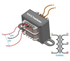 Centre Tapped Transformer: Wiring, Specifications, How to Use It Basic Electronic Circuits, Electronic Circuit Projects, Electronic Schematics, Electronic Engineering, Electrical Engineering, Electrical Wiring Colours, Home Electrical Wiring, Electrical Circuit Diagram, Electrical Projects