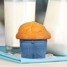 Moules à muffin en forme de jeans – set de 4