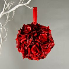 Red Rose Kissing Ball
