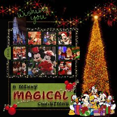 Mickey's Very Merry Christmas Party MouseScrappers.com  I love this.....trying to figure out if I can convert to paper