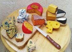 Food for dolls / Кукольный дом ручной работы. Ярмарка Мастеров - ручная работа. Купить Еда для кукол - сыры для кукольной миниатюры. Handmade.
