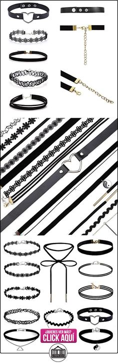 Longra 12 piezas de collar de estrangulación Set Stretch Velvet Classic Gothic Tattoo Lace Choker  ✿ Joyas para mujer - Las mejores ofertas ✿ ▬► Ver oferta: https://comprar.io/goto/B01NBMJ66U