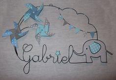 Prénom en fil de fer - prénoms et thème sur mesure : Autres bébé par gabaxel