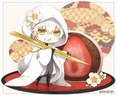 埋め込み画像 Kawaii Chibi, Cute Chibi, Anime Chibi, Kawaii Anime, Touken Ranbu, Cute Anime Boy, Anime Guys, Chibi Food, Manga Comics