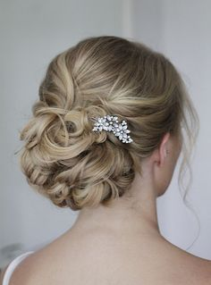 Beautiful Brides | Hair and Makeup Service by Justina Sullivan (bridesmaid hair updo messy hairdos)