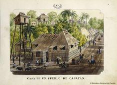 CASA DE UN PUEBLO DE CAGAYAN. Lozano, José Honorato 1821- — Dibujo — 1847
