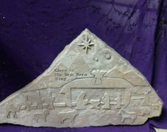 Check out scripture stones, engraved stones, stone nativity scene, Christmas on milestoneartworks