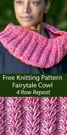 4 Row Cowl Knitting Patterns- In the Loop Knitting Rib Stitch Knitting, Free Knitting, Loom Knitting, Knitting Stitches, Knitting Patterns Free, Knit Patterns, Halloween Knitting Patterns, Simple Knitting, Baby Patterns