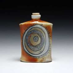 Handmade Ceramic Flask. - Eva Champagne.