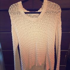 Urban Outfiters Cream Kimchi Blue Sweater Size medium, brand new, only worn once Urban Outfitters Sweaters Crew & Scoop Necks