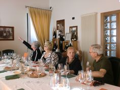 Sarasota Sister Cities delegation members Pat Edmonds, Peggy Abt, Angle Algeri and George Edmonds enjoy a wine harvest lunch at La Tondera Winery in the Province of Treviso in September 2010