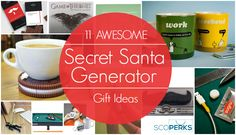 Looking for some Secret Santa gift ideas for work? Well we have a Secret Santa Generator that'll give you Christmas gift ideas for anyone you're buying for on any budget!