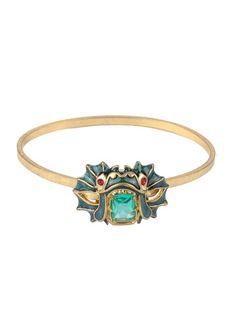 Bracelet jonc créature des mers Vert by LES NEREIDES