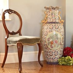 Large Floor Standing Decorative Oriental Vase Harris And King Vintage Vases