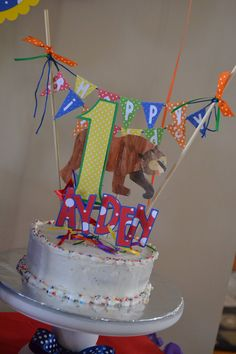 Brown Bear Brown Bear Cake Topper by MonicaDawnDesigns on Etsy