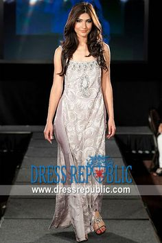 Pale Lavender Cisco, Product code: DR9564, by www.dressrepublic.com - Keywords: Asim Jofa New York Collection, Pakistani Designer Asim Jofa Party Wear Dresses Online Shop
