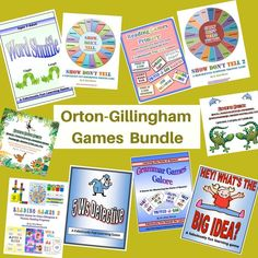 The Orton Gillingham Games Bundle offers a suite of fun and multisensory games, by Dr. Erica Warren, that can make any OG or phonics based reading program enjoy Fun Learning Games, Reading Games, Educational Games, What's The Big Idea, Show Dont Tell, Grammar Games, Detective Shows, Teacher Problems, Reading Specialist