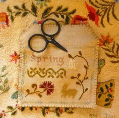 Sweet Little Spring Stitchery by Terry Loewen. Chart and instruction!