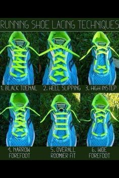 Tie your laces for your foot type