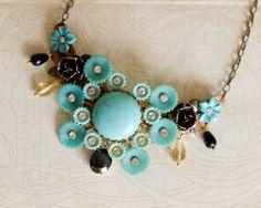 """vintage collage necklace"""