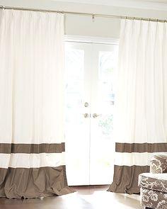 Double Banded Custom Silk Drapery #neutrals #windows