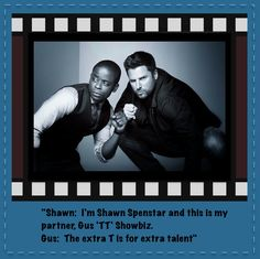 Psych Shawn And Gus, Shawn Spencer, Psych Quotes, Tv Show Quotes, Movies Showing, Movies And Tv Shows, Real Detective, Psych Tv, I Know You Know