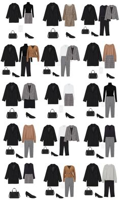 Winter Capsule Wardrobe – womenontrend. Winter Workwear/ Business Casual / Office Outfits 2018 Winter Capsule Wardrobe – womenontrend. Capsule Wardrobe Work, Capsule Outfits, Fashion Capsule, Mode Outfits, Fashion Outfits, Party Outfits, Office Wardrobe, Office Attire, Office Outfits Women