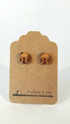 """GIVE ME THESE I BEG OF YOU Boba Fett Laser Cut Wood Earrings, $10   21 Far Out Gifts For """"Star Wars"""" Fans"""