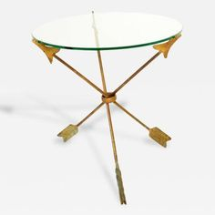 Arturo Pani Amazing Side Table Arrows Attributed to Arturo Pani
