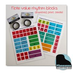 Note value rhythm blocks - free download