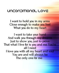 unconditional love poems for her