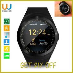 47e1ee2ab52 Smart Watch Round Support Nano SIM  TF Card With Whatsapp And Facebook Men  Women Business Smartwatch