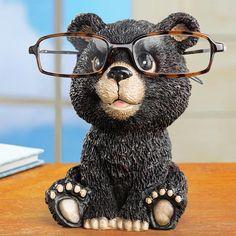 Urso Animal Ficar Óculos De Resina Artesanato Adorável Óculos Óculos de Sol Titular Estande Cremalheira Animal Home Decor Melhor Presente