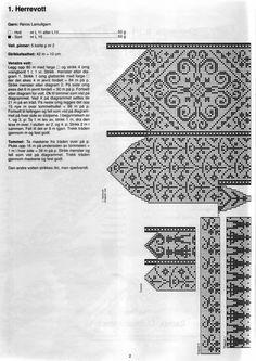 Scandinavian knit mittens