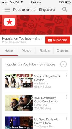 Subscribe. Youtube app.