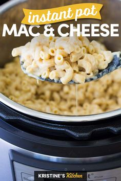 Best Ever Instant Pot Mac and Cheese Recipe! This easy homemade macaroni and cheese is made with milk and real cheese. This creamy mac and cheese is a family dinner favorite! #instantpot #macandcheese Instant Pot Mac And Cheese Recipe, Mac And Cheese Homemade, Best Instant Pot Recipe, Easy One Pot Meals, Quick Easy Meals, Easy Dinner Recipes, Dinner Ideas, Weeknight Recipes, Tortellini