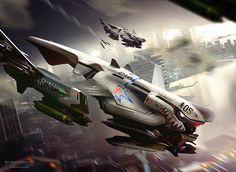 concept ships: Spaceship concepts by Rasmus Poulsen