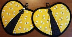 Check out this item in my Etsy shop https://www.etsy.com/listing/520656611/bees-handy-heart-potholders